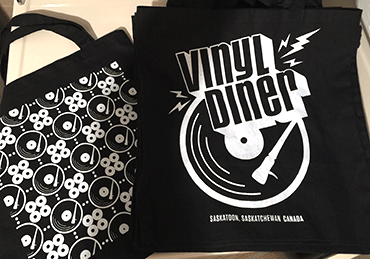 Tote bags for the Vinyl Diner