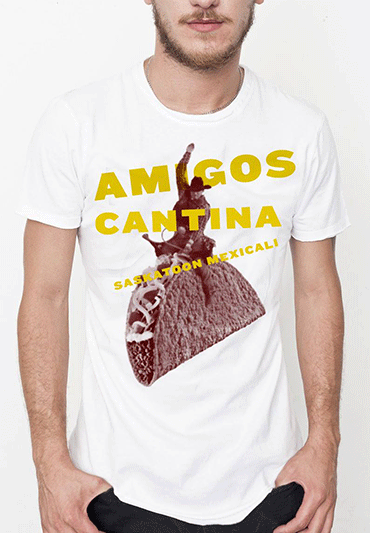 T-shirt for Amigos Cantina